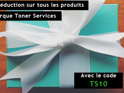 10% de réduction sur tous les produits de la marque Toner Services