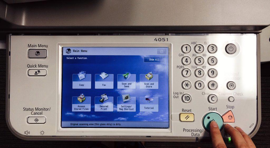 imprimante scan